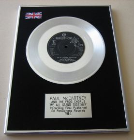 PAUL McCartney AND THE FROG CHORUS - WE ALL STAND TOGETHER PLATINUM single presentation DISC